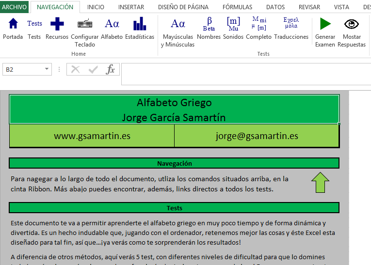 Tests Alfabeto Griego